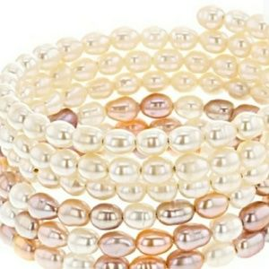 Freshwater cultured pearl two bracelet set